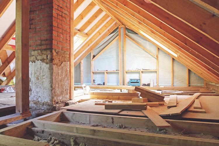 isolering af etageadskillelse og gulv