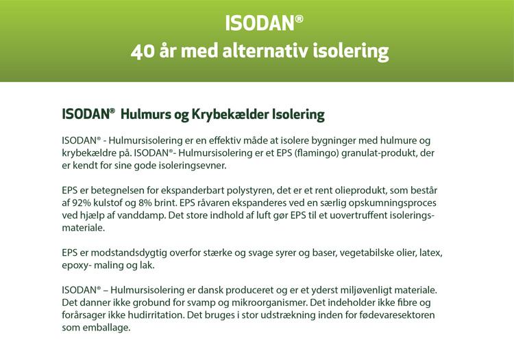 EPS brochure om hulmursisolering og isolering af krybekælder