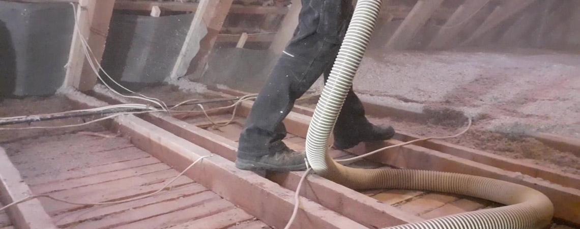Isolering af loft med Warmfiber Papirisolering