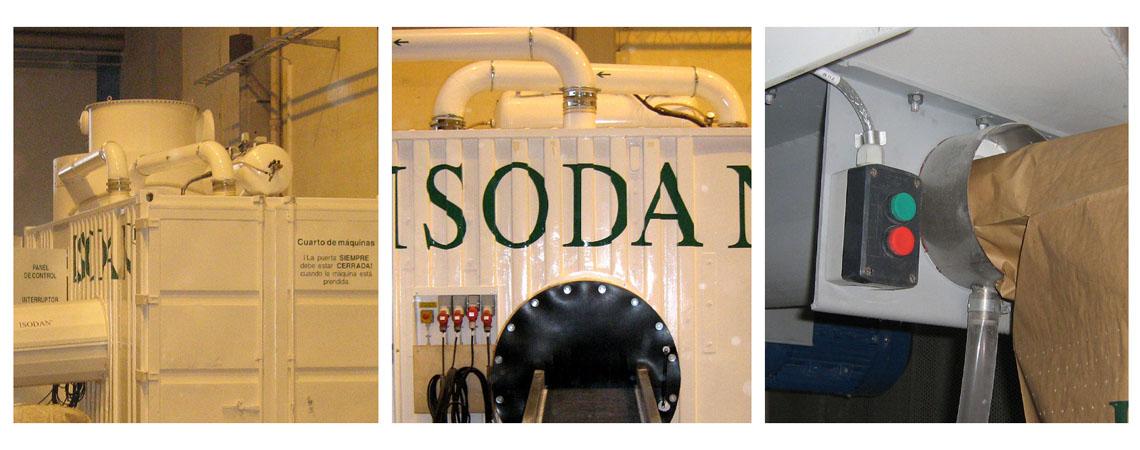 produktionsanlæg til papirisolering, hamp isolering, tekstil isolering, planterester fra sukkerrør mfl.