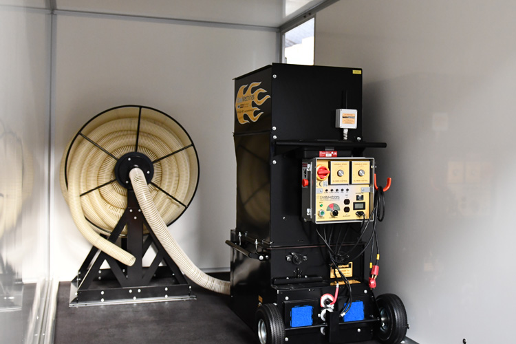 cm-1500hp klargøres til trailerløsning