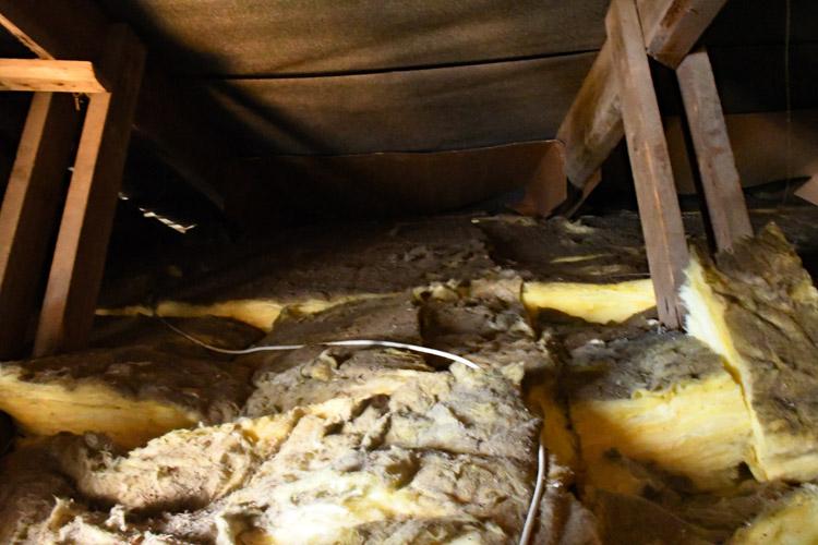 utæt dampspærre under mineraluld