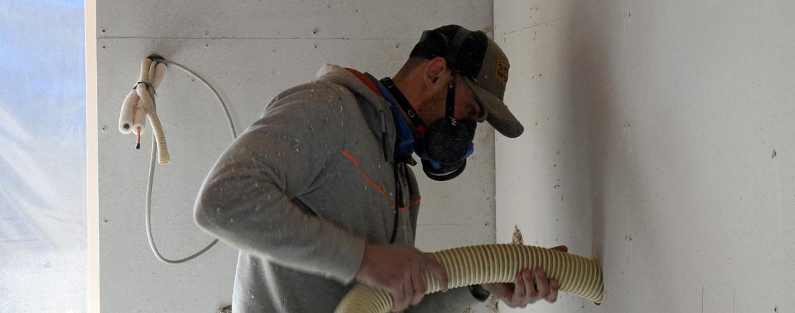 isolering af vægge med papiruld
