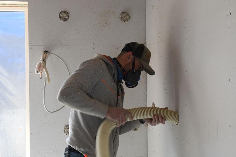 isolering af vægge i de skæve boliger