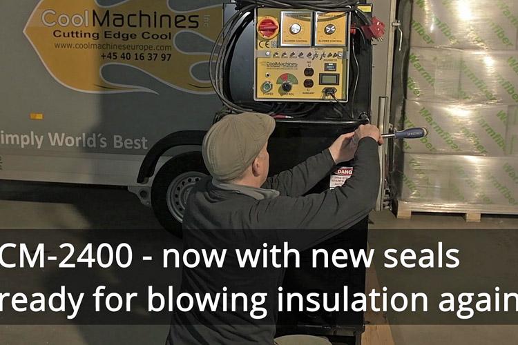 Det er nemt at skifte gummilapper på en CM-2400 isoleringsmaskine