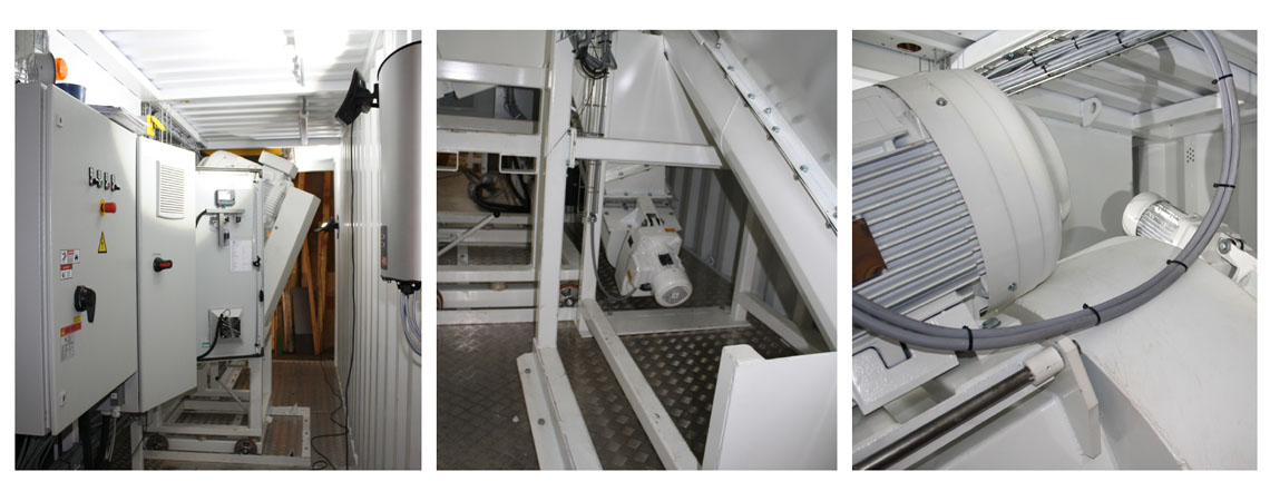 Special designed mobile production plant for recycling