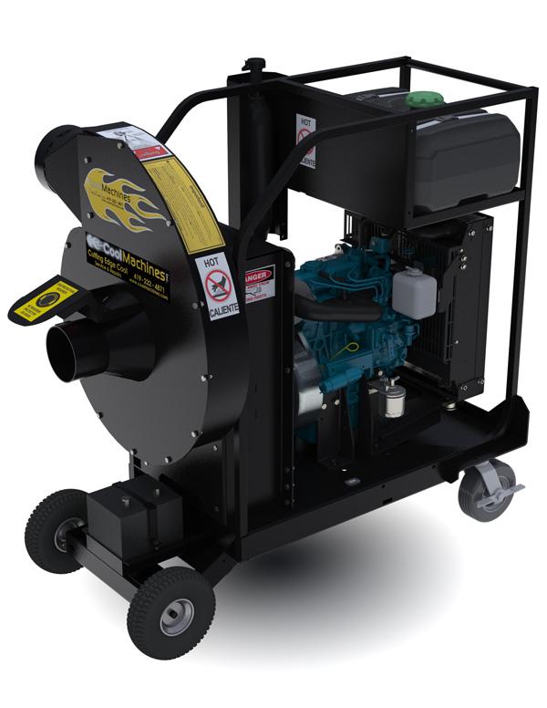 Meget kraftig dieseldreven vakuumsuger til fjernelse af isolering