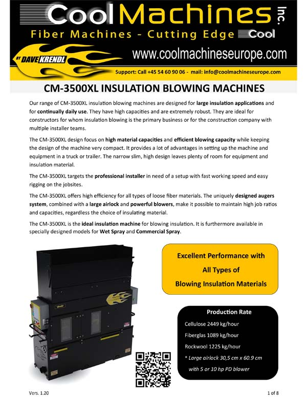 CM-3500XL Insulations Blowing Machines