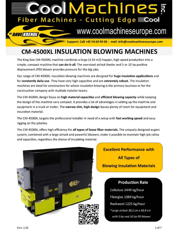 CM-4500XL Insulation Blowing Machines