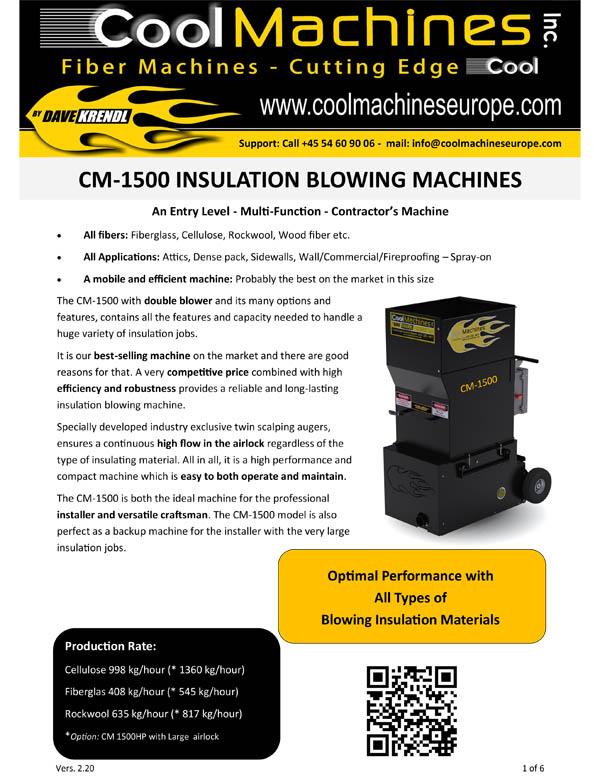 CM-1500 Insulation Blowing Machines