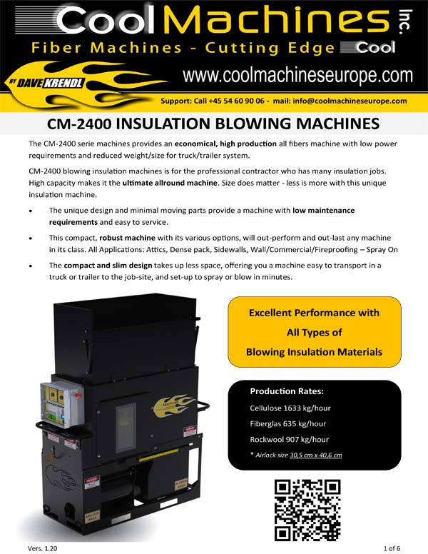 CM-2400 Insulation Blowing Machines