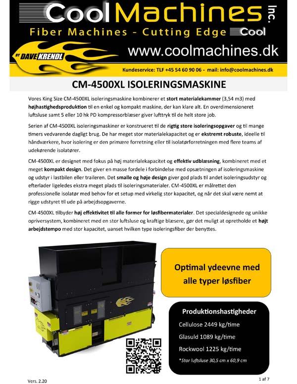 CM-4500XL Isoleringsmaskine