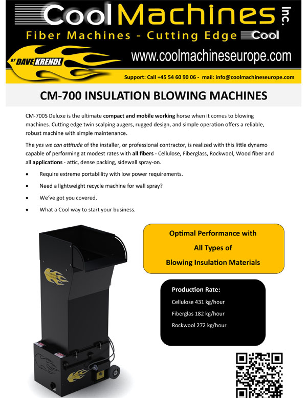 CM-700 Insulation Blowing Machines