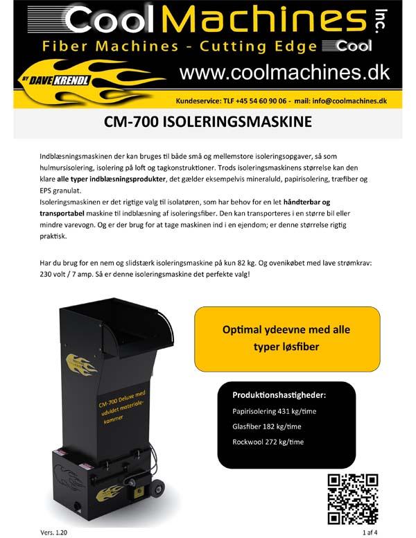 CM-700 Isoleringsmaskine